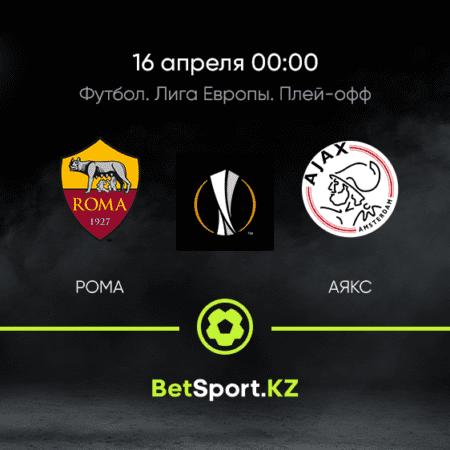 Рома – Аякс. Футбол. Лига Европы. Плей-офф. 16.04.2021 в 00:00 (UTC+5)