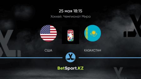 США – Казахстан. Хоккей. Чемпионат мира. 25.05.2021 в 18:15 (UTC+5)