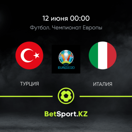 Турция – Италия. Футбол. Евро. 12.06.2021 в 00:00 (UTC+5)