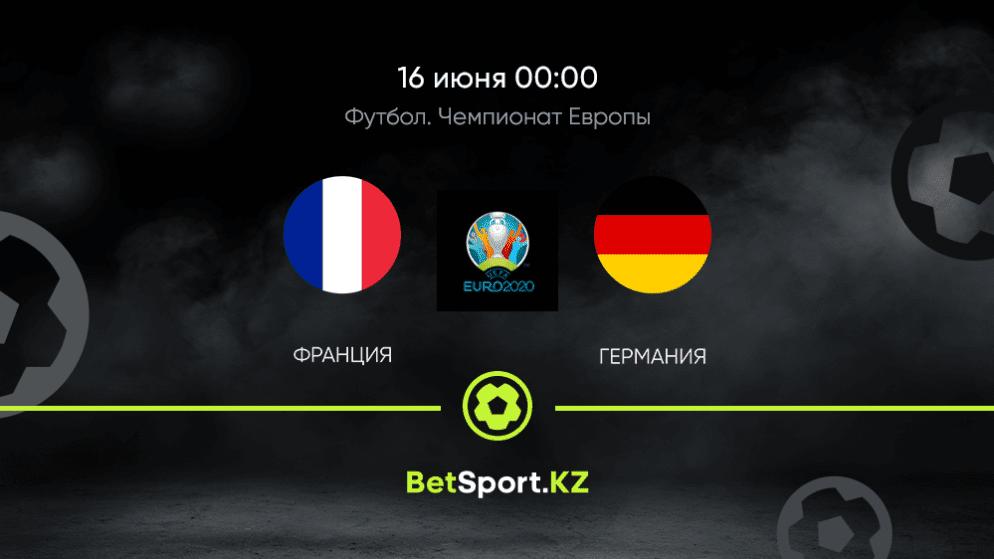 Франция — Германия. Футбол. Евро. 16.06.2021 в 00:00 (UTC+5)