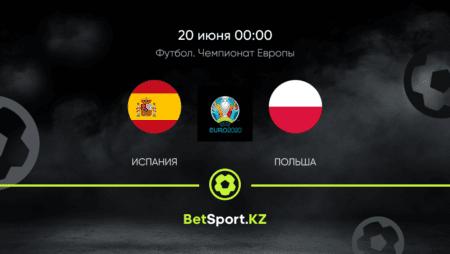 Испания – Польша. Футбол. Евро. 20.06.2021 в 00:00 (UTC+5)