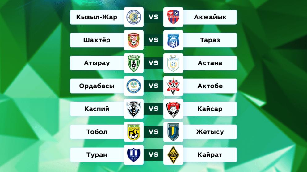 Футбол. Чемпионат Казахстана. 16 тур. 18-19 июня