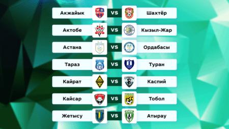 Футбол. Чемпионат Казахстана. 17 тур. 22-23 июня