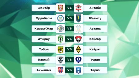 Футбол. Чемпионат Казахстана. 18 тур. 27-28 июня