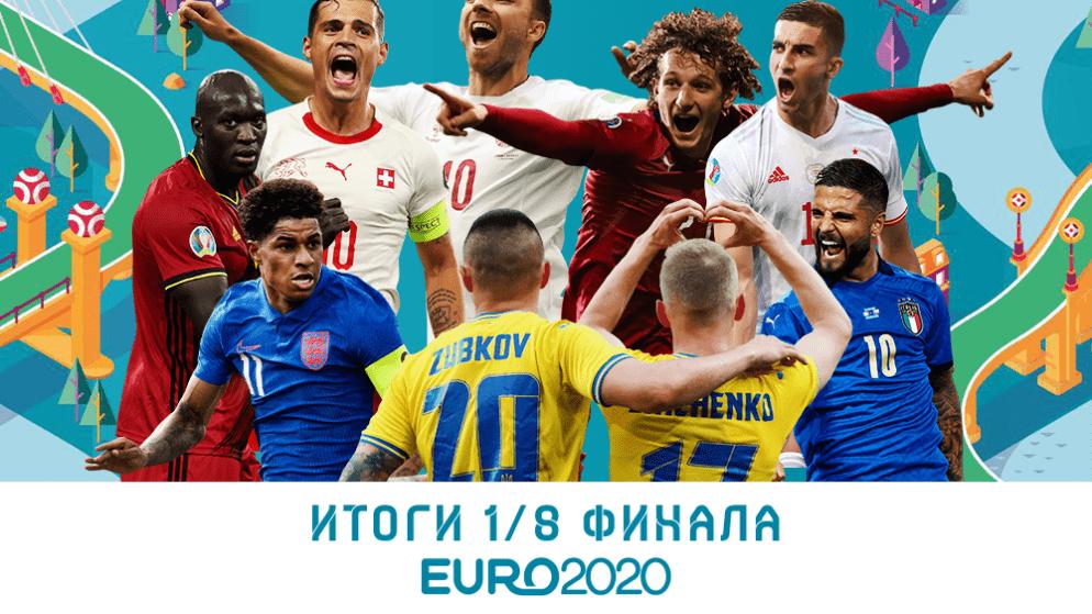 Итоги 1/8 финала Евро-2020