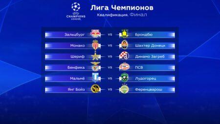 Квалификация Лиги Чемпионов. Финал. Прогноз на первые матчи 18 — 19 августа 2021