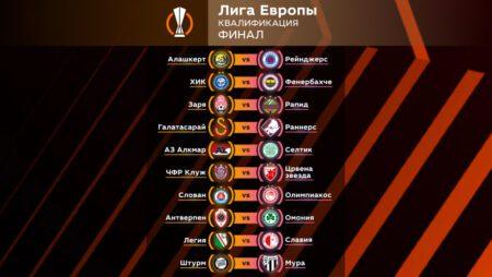 Квалификация Лиги Европы. Финал. Прогноз на ответные матчи 26-27 августа 2021