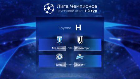 Лига Чемпионов. Прогноз на матчи первого тура. Группа Н