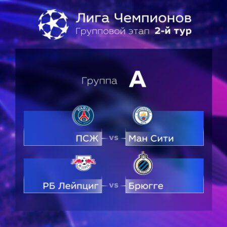 Лига Чемпионов. Прогноз на матчи второго тура. Группа А