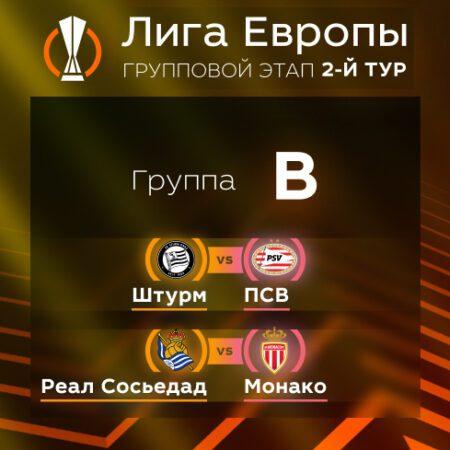 Лига Европы. Прогноз на матчи второго тура. Группа В
