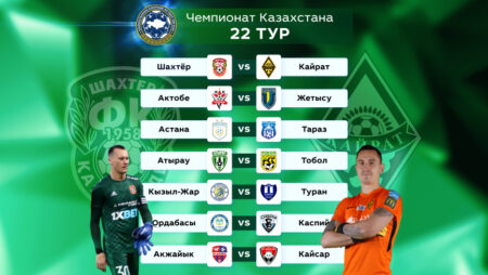 OLIMPBET-Чемпионат Казахстана. Прогноз на 22 тур