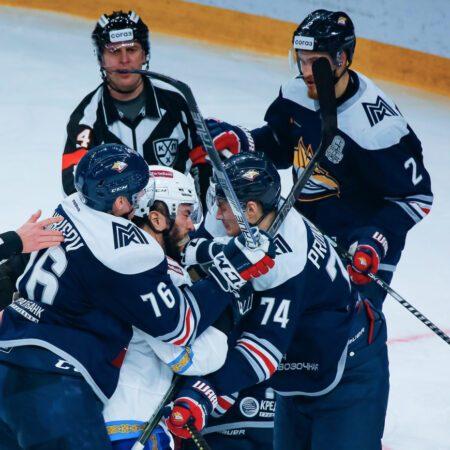 «Барыс» сражался на пределе сил и уступил лидеру КХЛ в одну шайбу