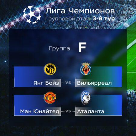 Лига Чемпионов. Прогноз на матчи третьего тура. Группа F